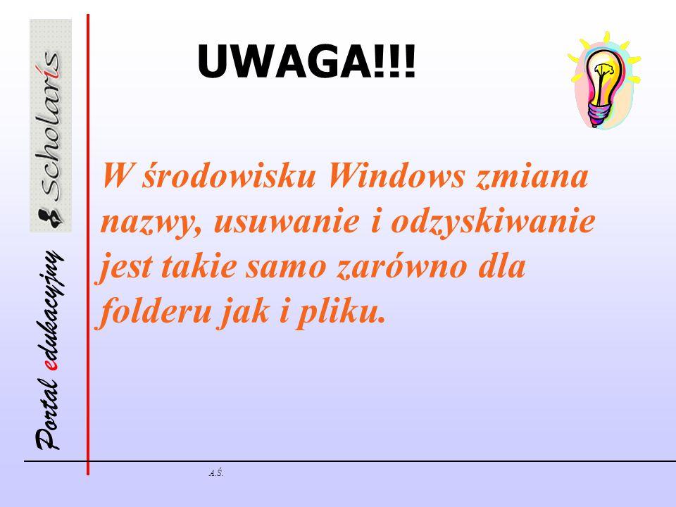 Portal edukacyjny A.Ś. UWAGA!!.