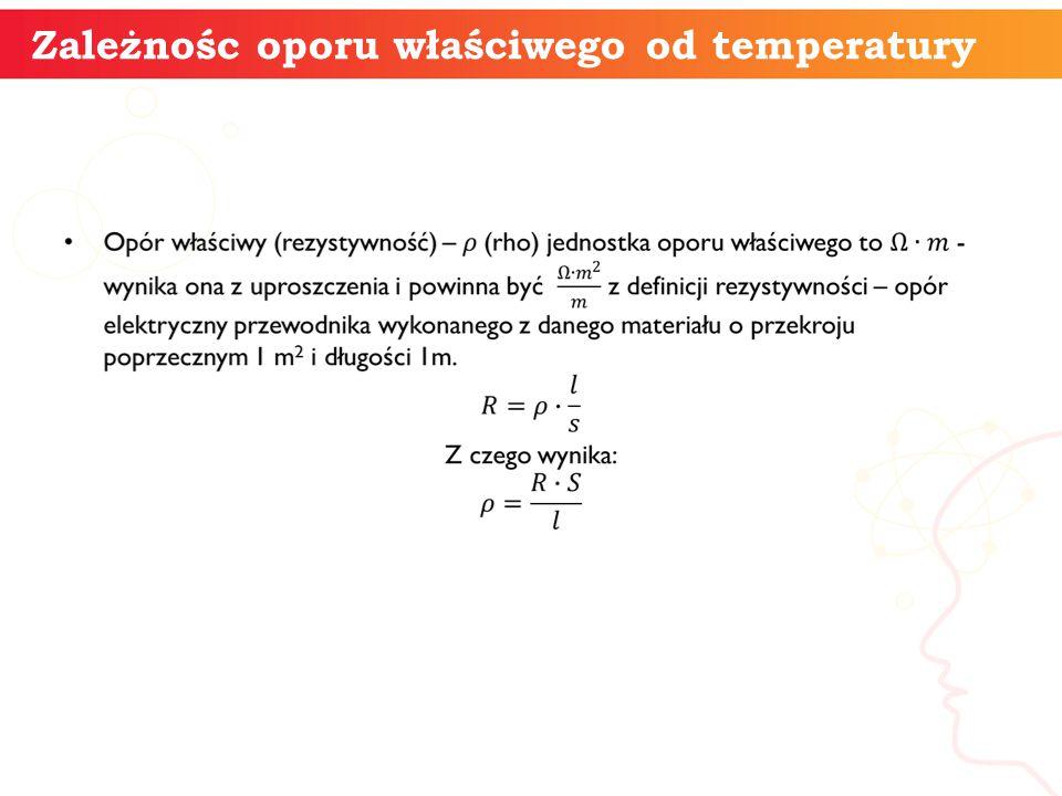 informatyka + 9 Zależnośc oporu właściwego od temperatury