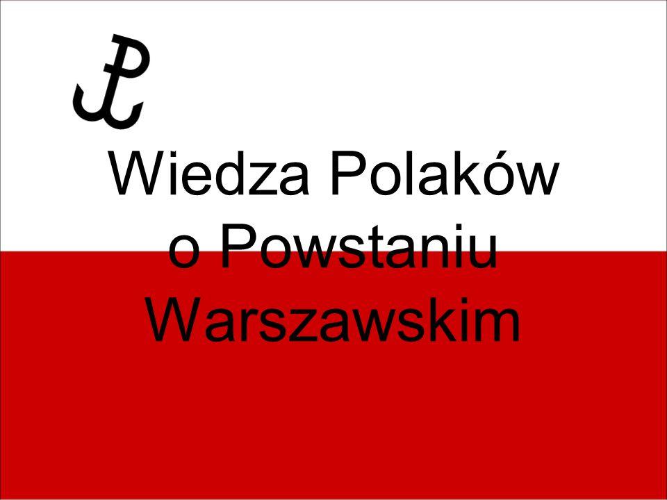 Przeprowadziliśmy ankiety dotyczące wiedzy o Powstaniu Warszawskim w trzech kategoriach wiekowych: 1.