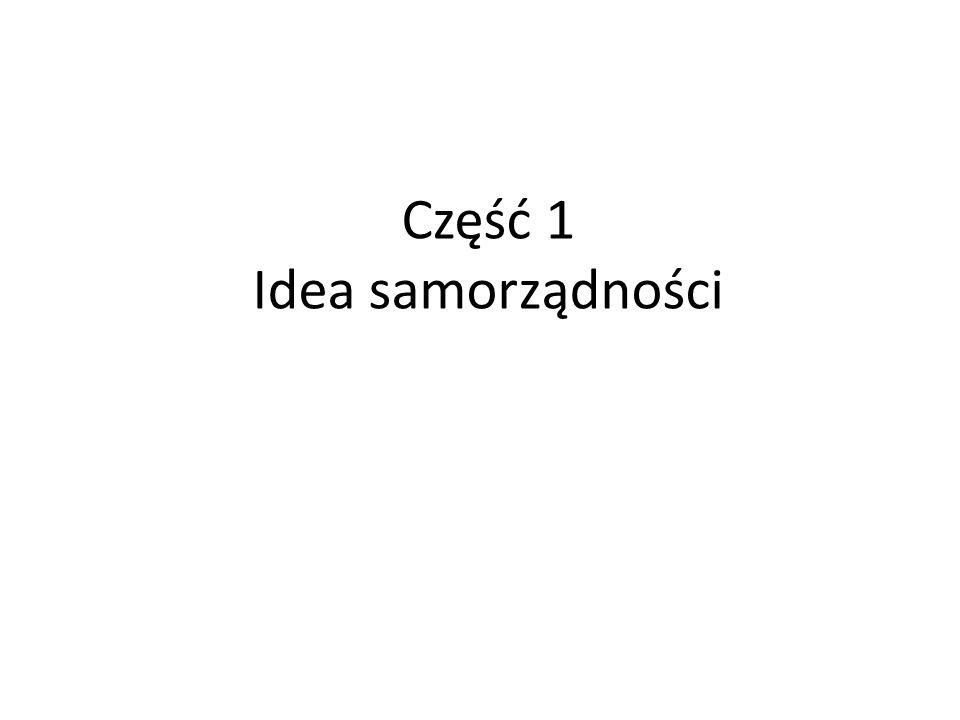 Część 1 Idea samorządności