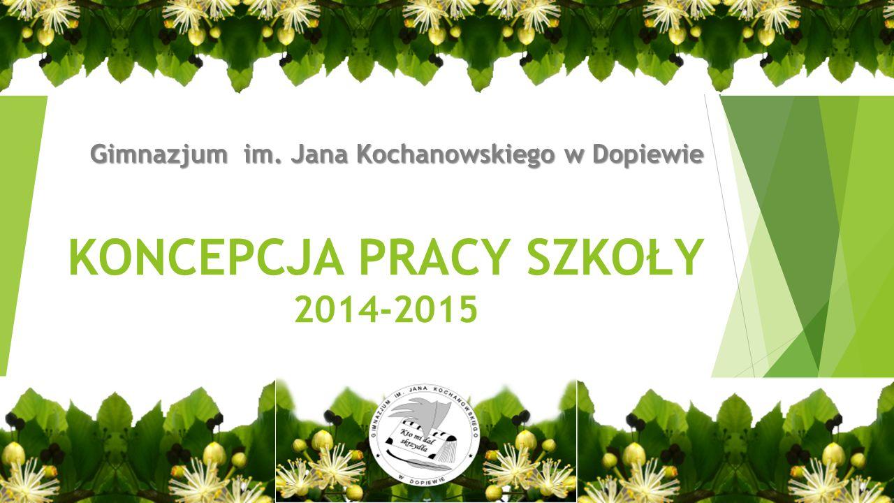 KONCEPCJA PRACY SZKOŁY 2014-2015 Gimnazjum im. Jana Kochanowskiego w Dopiewie