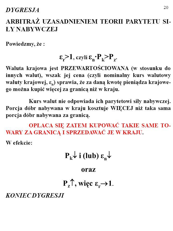 19 TEORIA PARYTETU SIŁY NABYWCZEJ (TEORIA PPP) (ang.