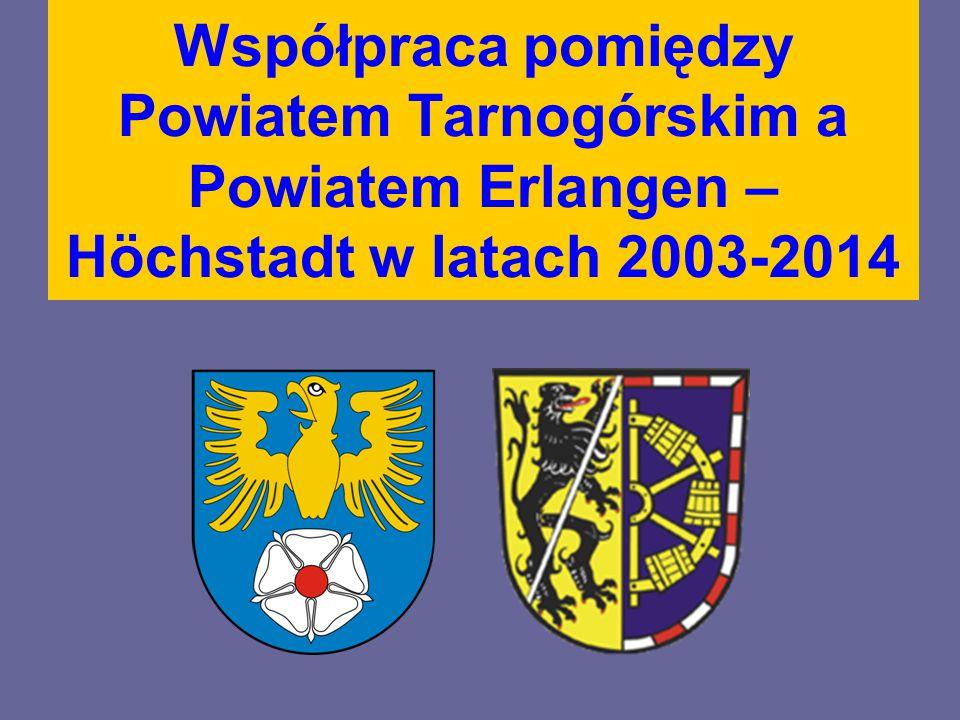 6 maja 2003 roku w Tarnowskich Górach podpisano list intencyjny, w którym zadeklarowano chęć nawiązania szerokiej współpracy między Powiatem Tarnogórskim a Erlangen - Höchstadt.