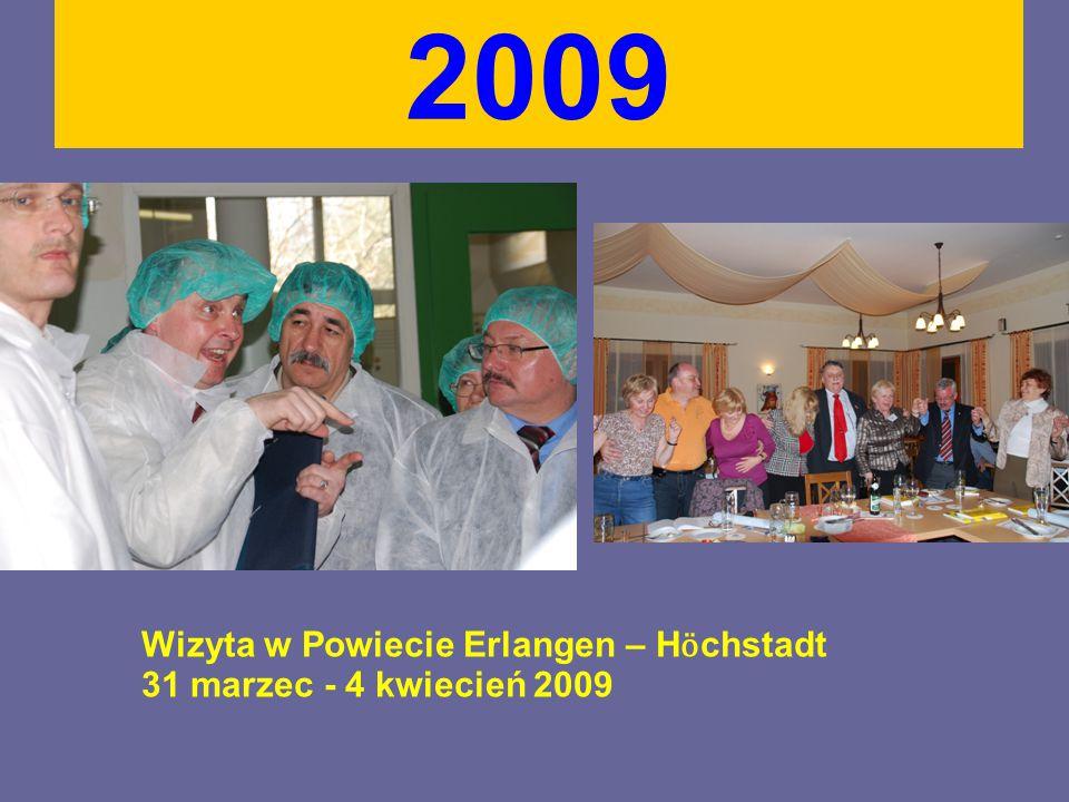 2009 Wizyta w Powiecie Erlangen – H ӧ chstadt 31 marzec - 4 kwiecień 2009