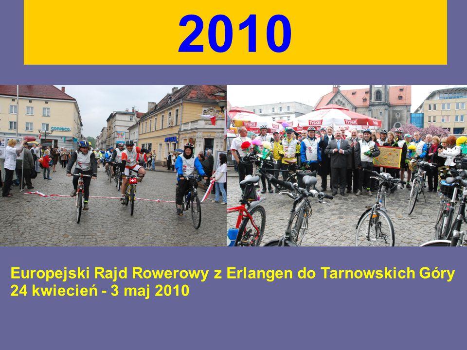 2010 Europejski Rajd Rowerowy z Erlangen do Tarnowskich Góry 24 kwiecień - 3 maj 2010