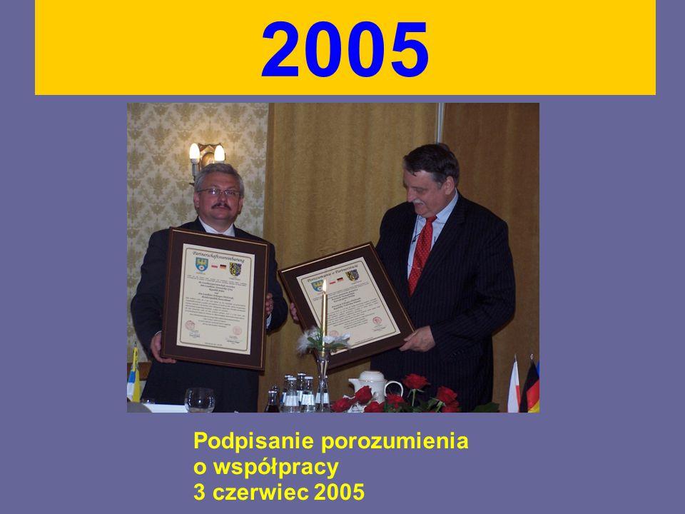 Podpisanie porozumienia o współpracy 3 czerwiec 2005 2005