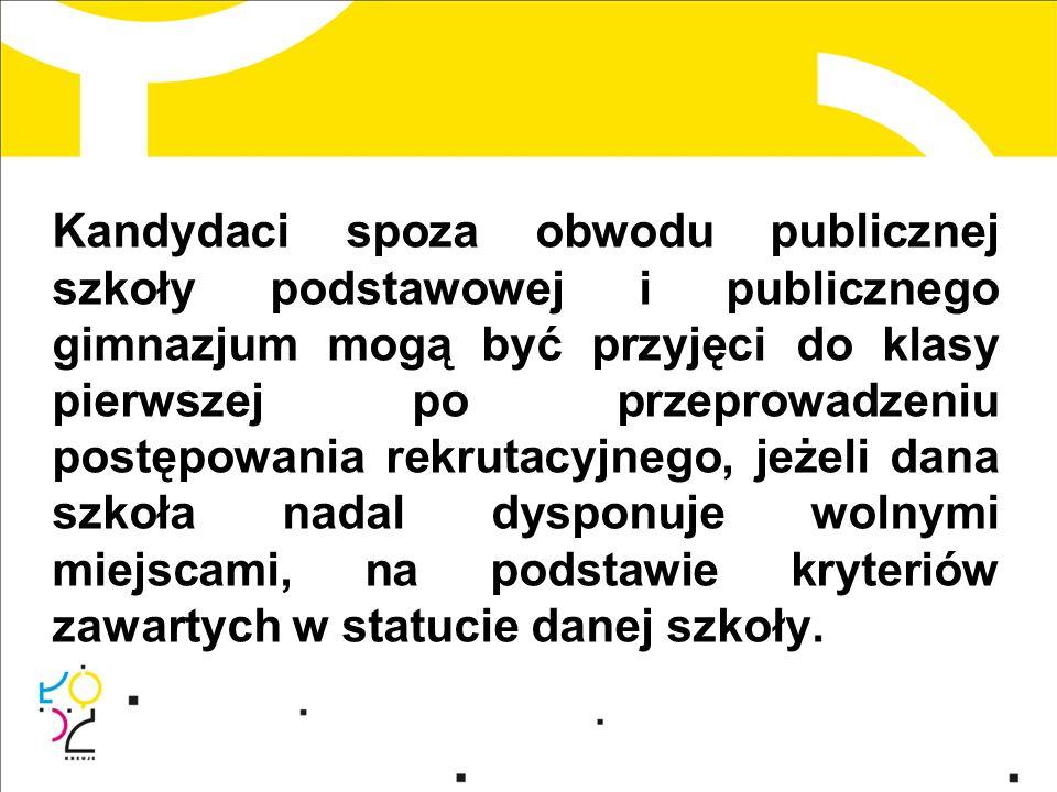 Do obwodu szkoły włączone są ulice: Brzozowa - cała Dębowa - cała Grabowa - cała Kaliska - cała Krucza - cała Lubelska - cała Łomżyńska - cała Milionowa - 2 - 4, 1 - 25 Niepodległości, pl.