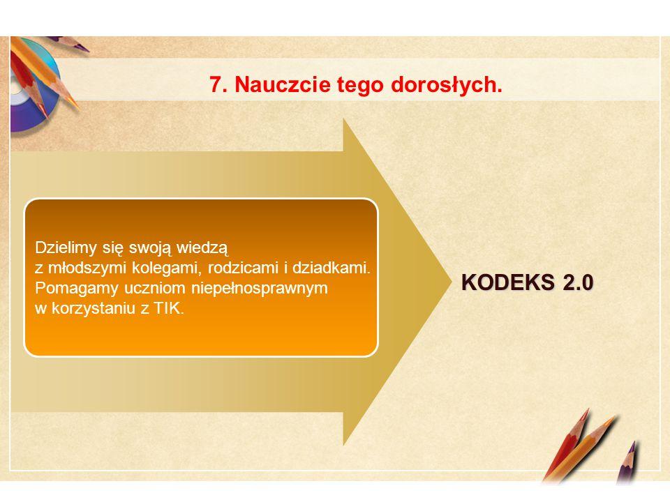 Click to edit Master text styles LOGO KODEKS 2.0 1 234 Wykorzystujemy komputery na zajęciach lekcyjnych i pozalekcyjnych w celu poznania możliwości TIK.