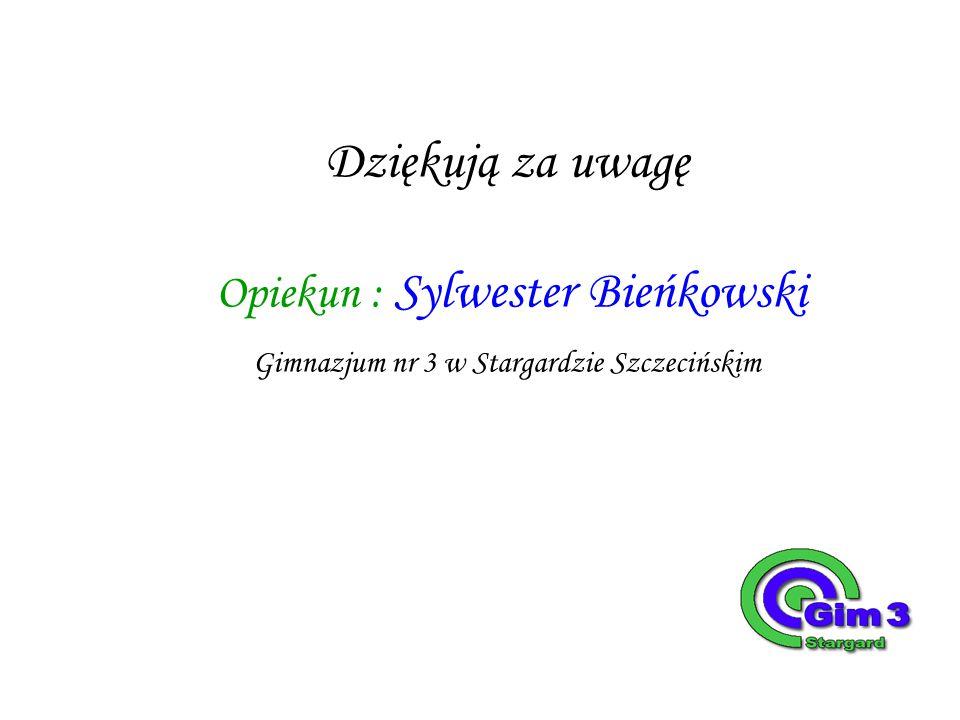 Dziękują za uwagę Opiekun : Sylwester Bieńkowski Gimnazjum nr 3 w Stargardzie Szczecińskim