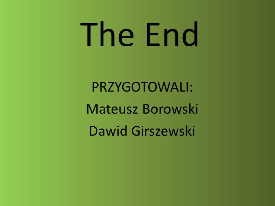 The End PRZYGOTOWALI: Mateusz Borowski Dawid Girszewski