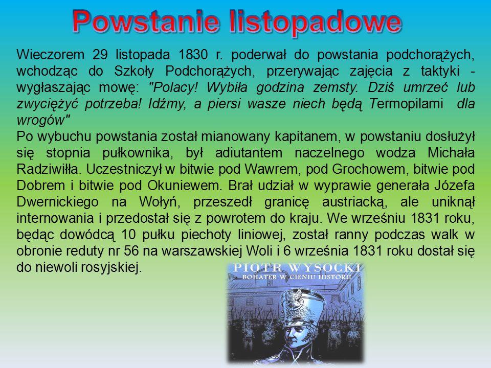 Więziony w Bobrujsku, w twierdzy zamojskiej, w osławionym więzieniu w pokarmelitańskim klasztorze w Warszawie na Lesznie.