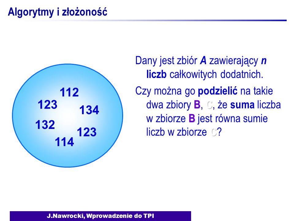 J.Nawrocki, Wprowadzenie do TPI Algorytmy i złożoność 123 132 112 134 123 114