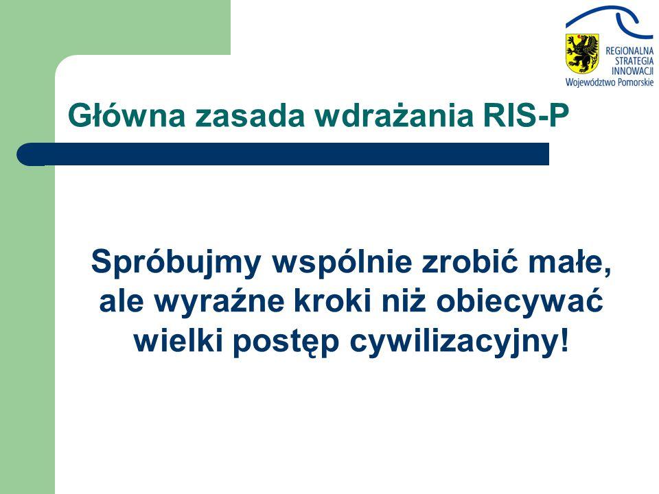Główna zasada wdrażania RIS-P Spróbujmy wspólnie zrobić małe, ale wyraźne kroki niż obiecywać wielki postęp cywilizacyjny!
