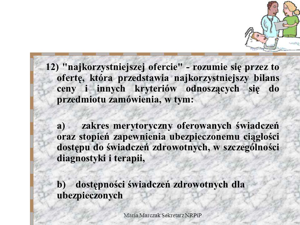 Maria Marczak Sekretarz NRPiP 12)