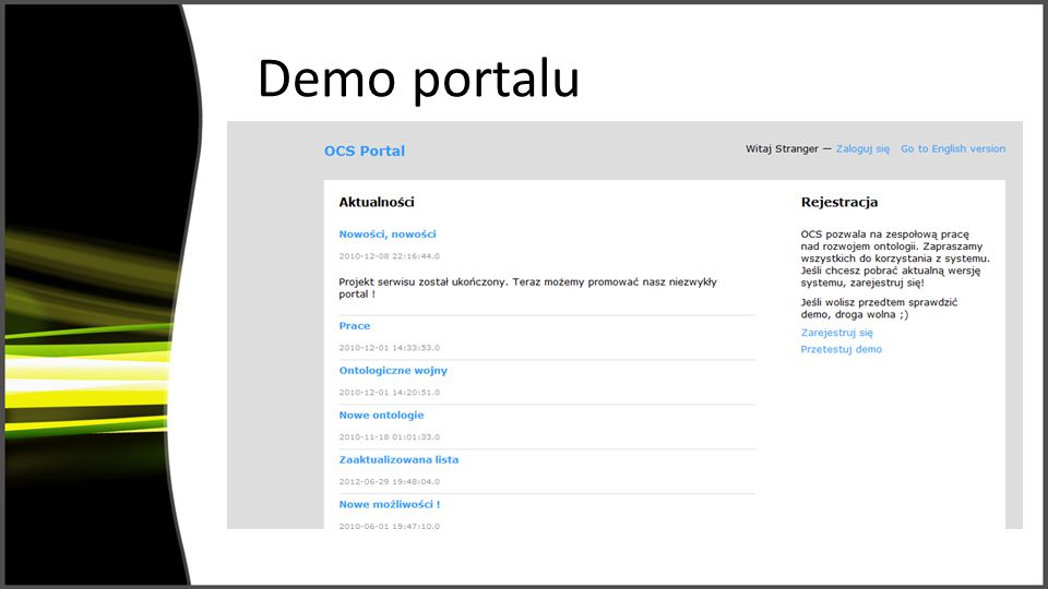 Demo portalu screeny