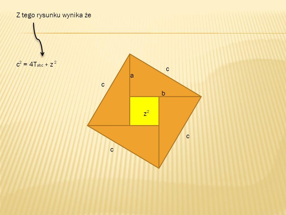 a b c c = 4T abc + z 2 2 c c c z 2 Z tego rysunku wynika że