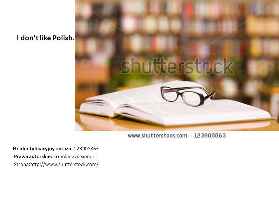 I don't like Polish. Nr identyfikacyjny obrazu: 123908863 Prawa autorskie: Ermolaev Alexander Strona:http://www.shutterstock.com/