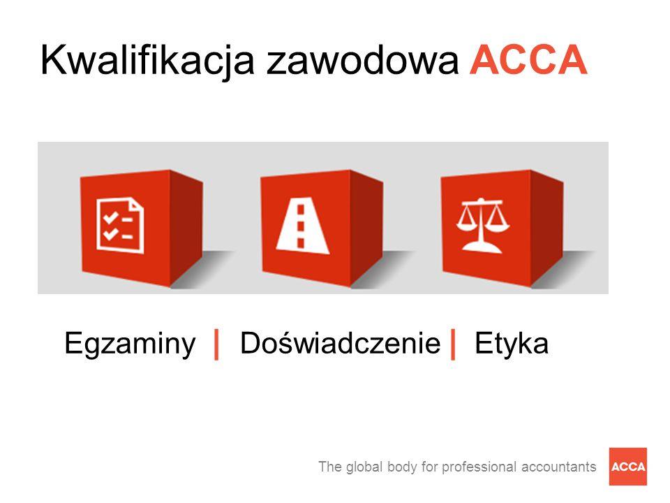 The global body for professional accountants Kwalifikacja zawodowa ACCA Egzaminy | Doświadczenie | Etyka