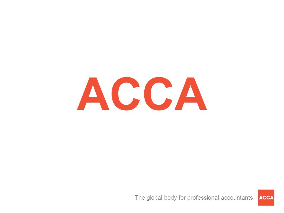The global body for professional accountants ACCA
