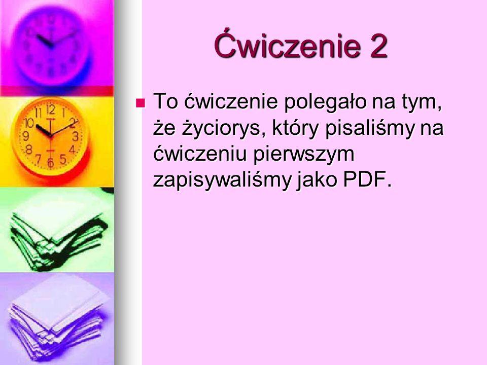 Życiorys jako PDF Życiorys Mam na imię Andżelika Bajan.