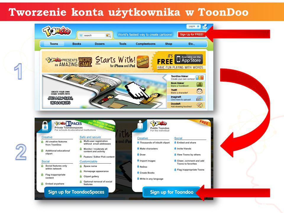 Tworzenie konta użytkownika w ToonDoo informatyka + 4