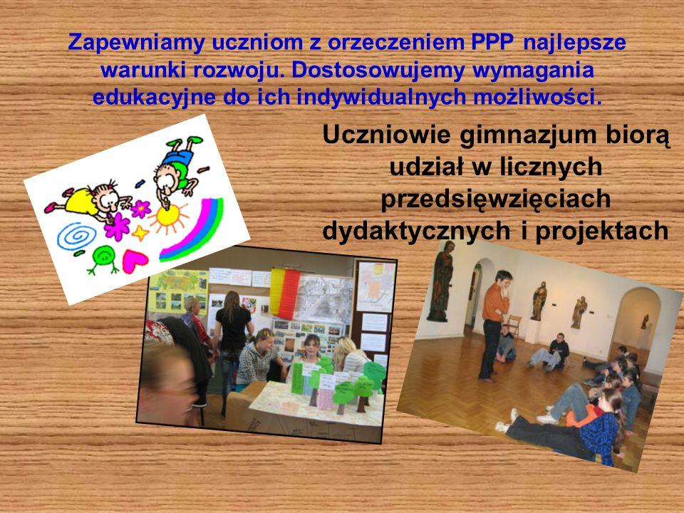 Zapewniamy uczniom z orzeczeniem PPP najlepsze warunki rozwoju.