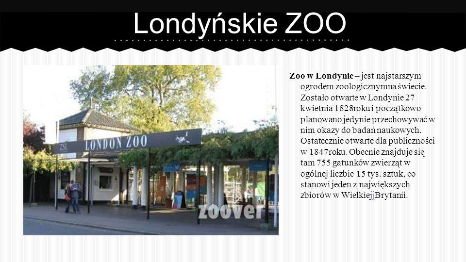 Londyńskie ZOO Zoo w Londynie – jest najstarszym ogrodem zoologicznymna świecie.