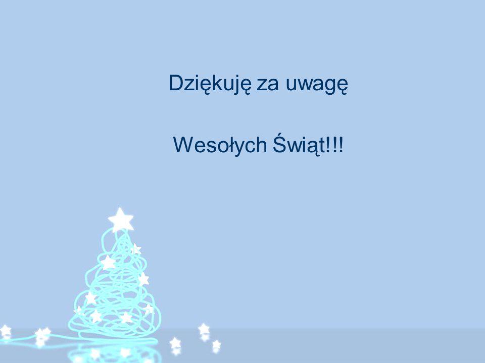 Dziękuję za uwagę Wesołych Świąt!!!