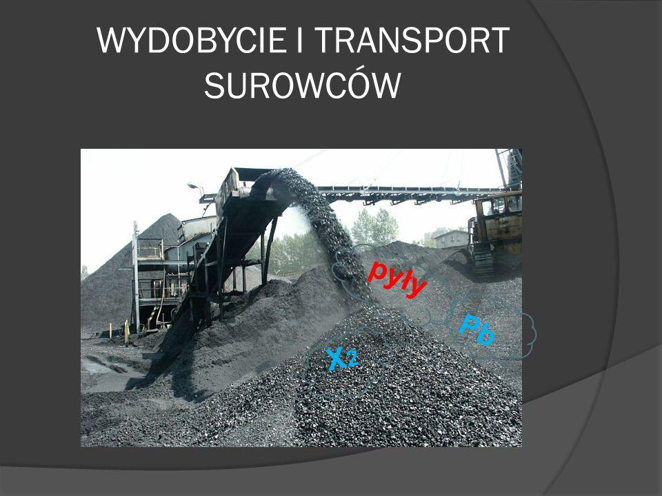 WYDOBYCIE I TRANSPORT SUROWCÓW pyły X2X2 Pb