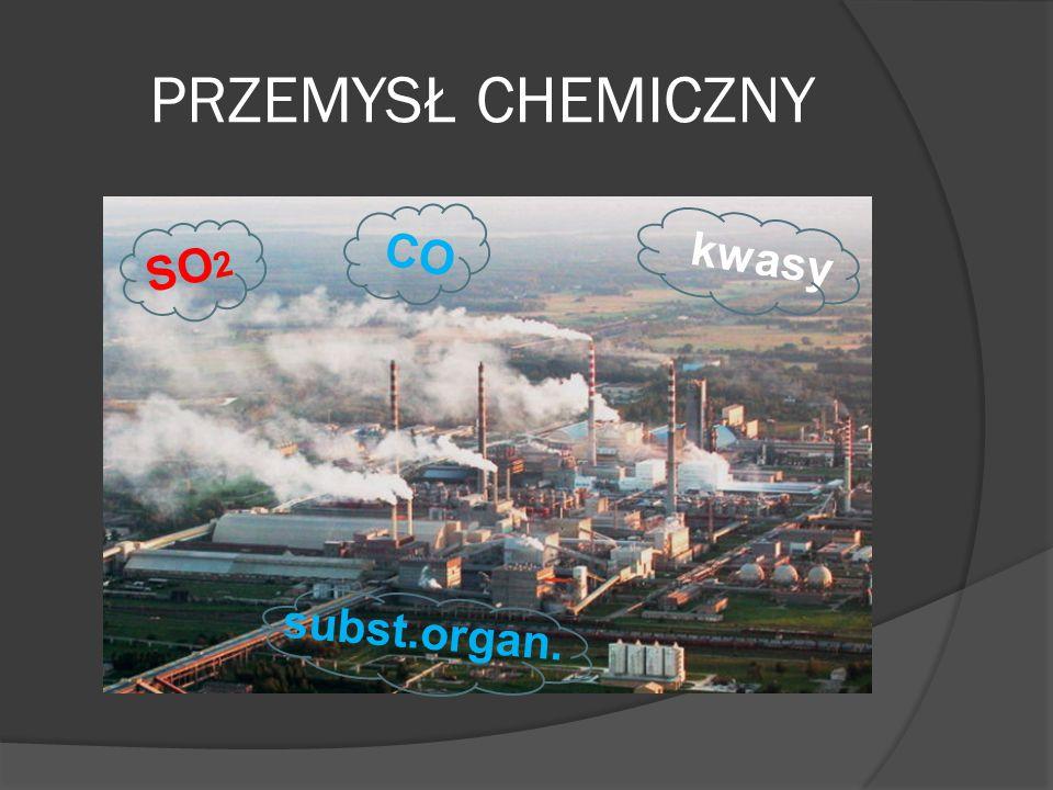PRZEMYSŁ CHEMICZNY SO 2 COkwasy subst.organ.