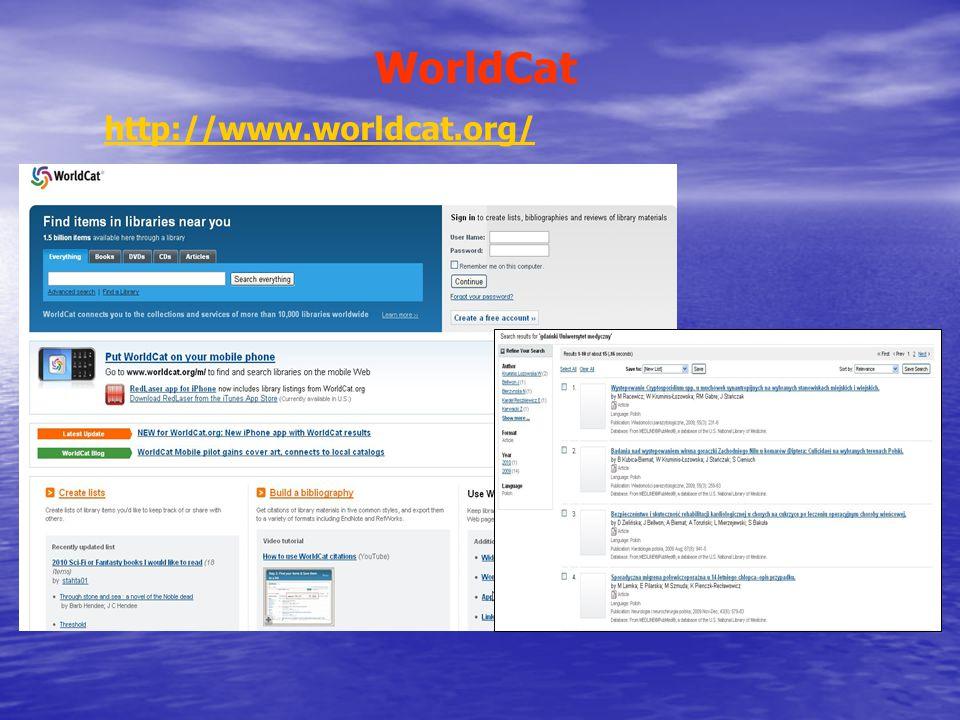 WorldCat http://www.worldcat.org/