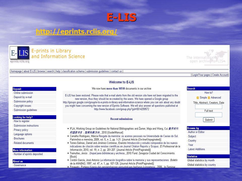 E-LIS http://eprints.rclis.org /