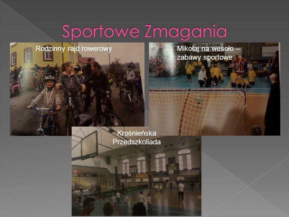 Rodzinny rajd rowerowyMikołaj na wesoło – zabawy sportowe Krośnieńska Przedszkoliada