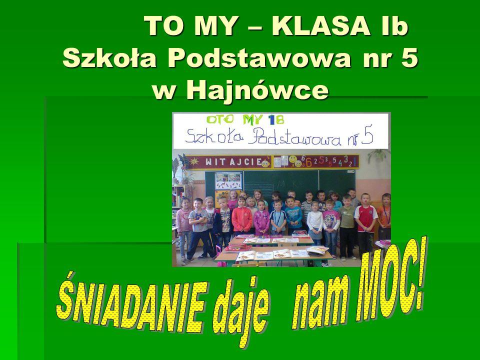 TO MY – KLASA Ib Szkoła Podstawowa nr 5 w Hajnówce TO MY – KLASA Ib Szkoła Podstawowa nr 5 w Hajnówce