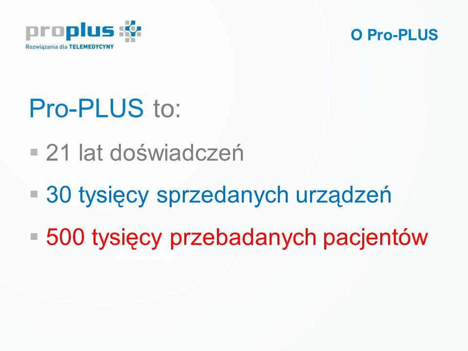  Pionier rozwiązań telemedycznych w Polsce i na świecie  Producent innowacyjnych urządzeń, oprogramowania i usług dla telemedycyny  Złoty Medal na