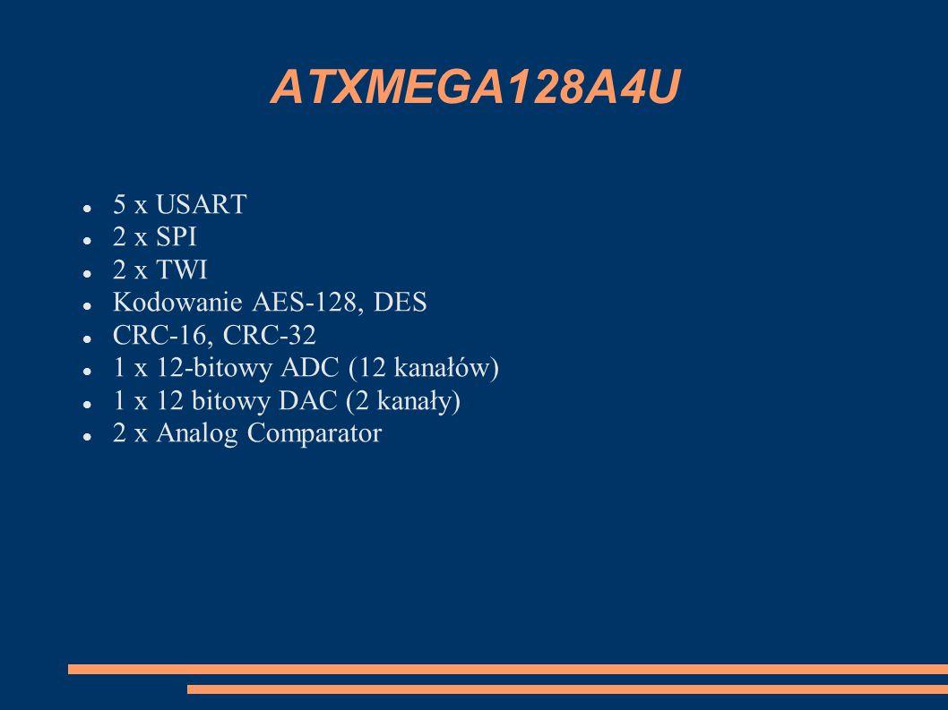 Timery ATXMega128A4U Timer i prosty układ liczący o rozdzielczości 8 lub 16 bitów.