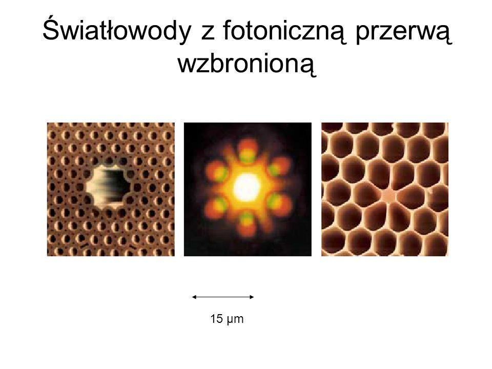 Światłowody z fotoniczną przerwą wzbronioną 15 μm