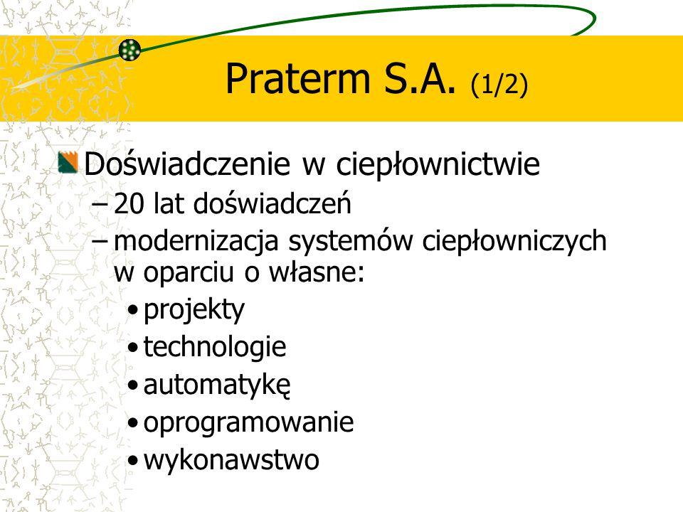 Skuteczność w prywatyzacji małych i średnich systemów ciepłowniczych –udział w 8 prywatyzacjach w latach 2002 i 2003 zakończony sukcesem w 6 prywatyzacjach –skuteczna restrukturyzacja prywatyzowanych przedsiębiorstw, pełna realizacja planów, zobowiązań inwestycyjnych, pakietów socjalnych, bardzo dobre referencje od władz samorządowych.