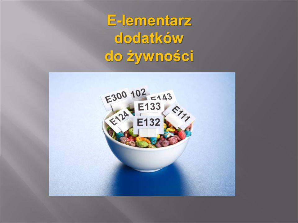 E-lementarz dodatków do żywności