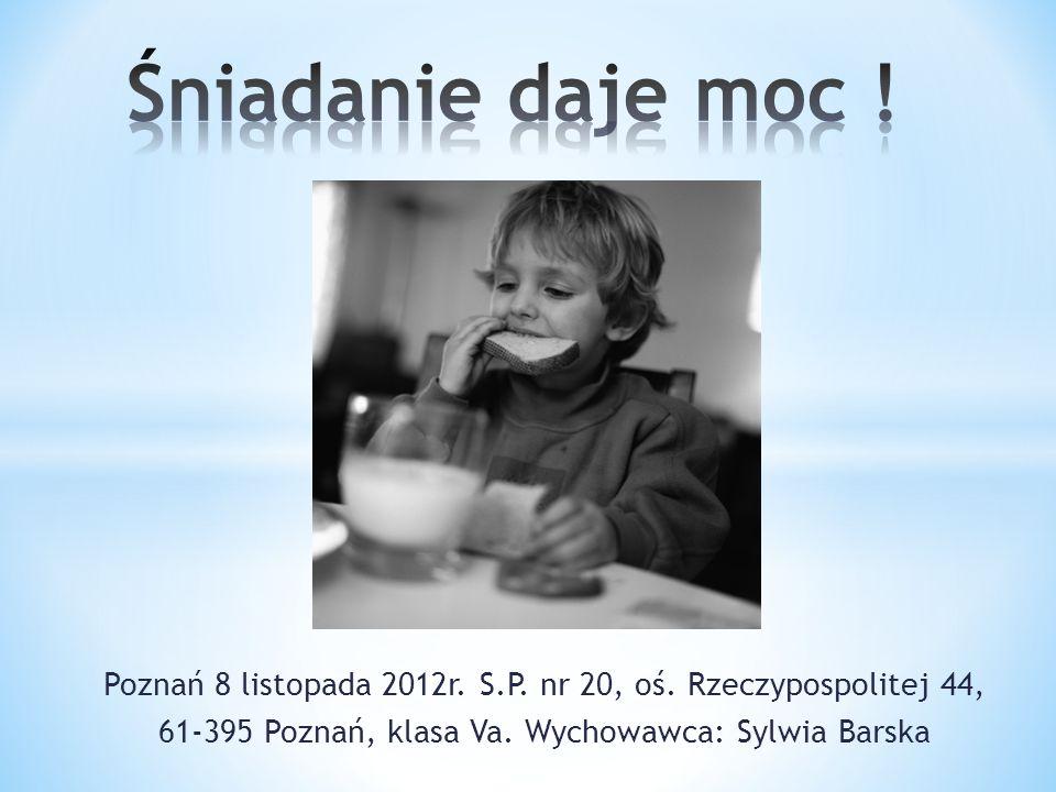 Poznań 8 listopada 2012r. S.P. nr 20, oś. Rzeczypospolitej 44, 61-395 Poznań, klasa Va.