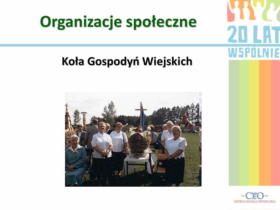 Organizacje społeczne Koła Gospodyń Wiejskich