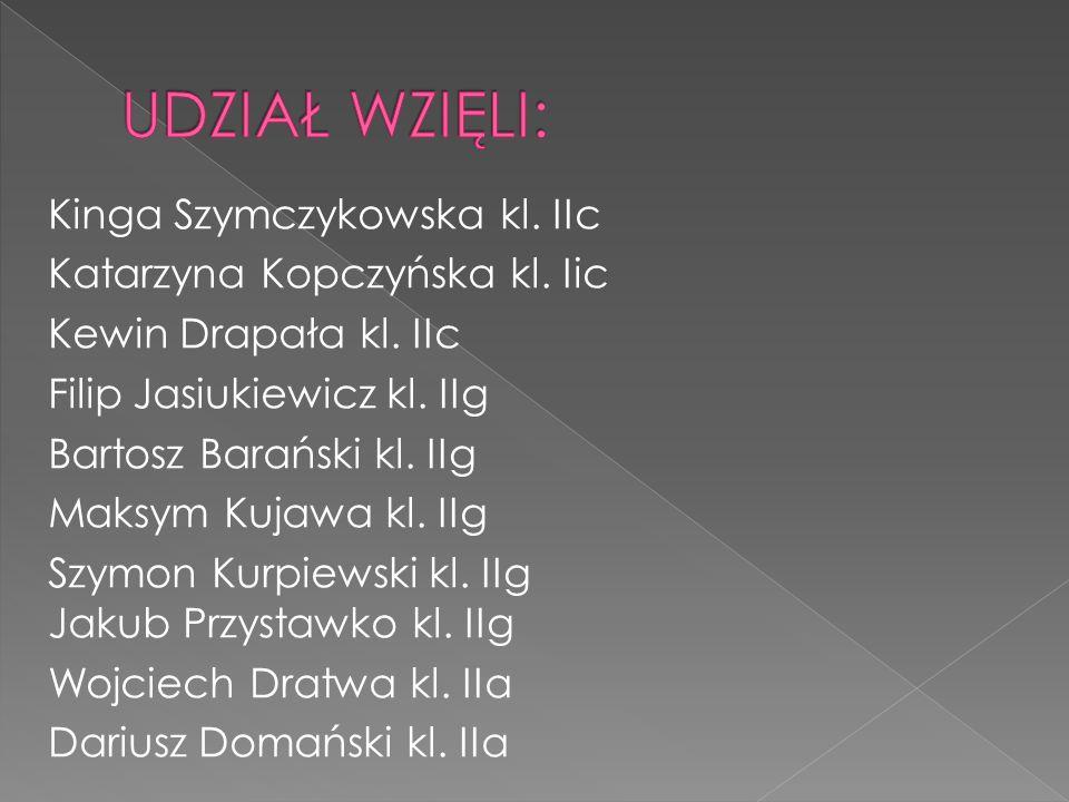Kinga Szymczykowska kl. IIc Katarzyna Kopczyńska kl.
