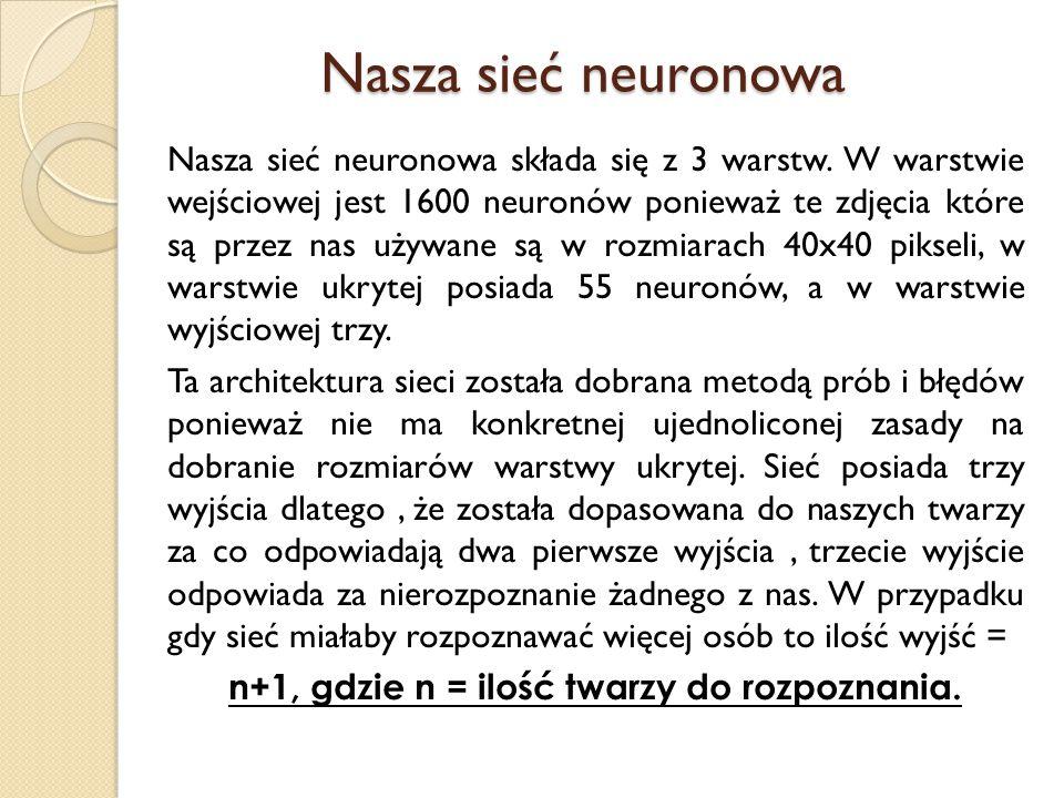 Nasza sieć neuronowa Nasza sieć neuronowa składa się z 3 warstw.