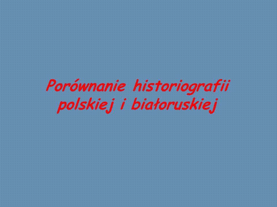Białoruska historiografia emi- gracyjna wojnę z lat 1919-1921 ocenia jako polsko-bolszewicką rywalizacje o wpływy na ziemiach białoruskich. Podkreśla