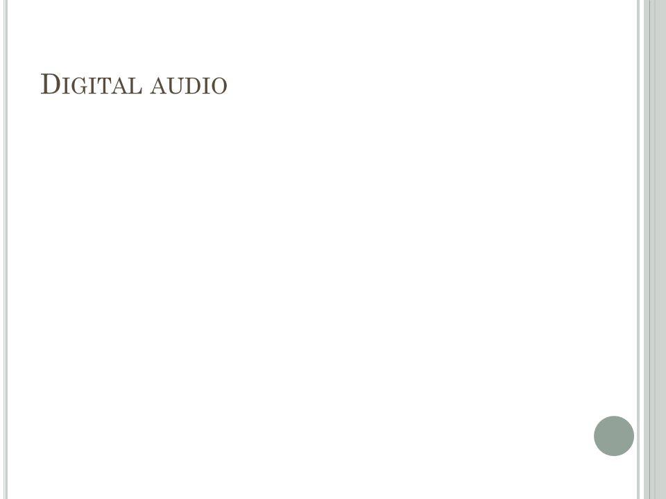 D IGITAL AUDIO