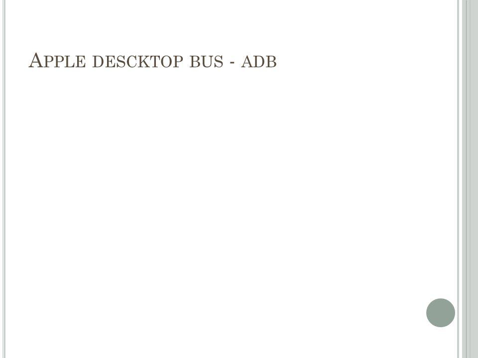 A PPLE DESCKTOP BUS - ADB