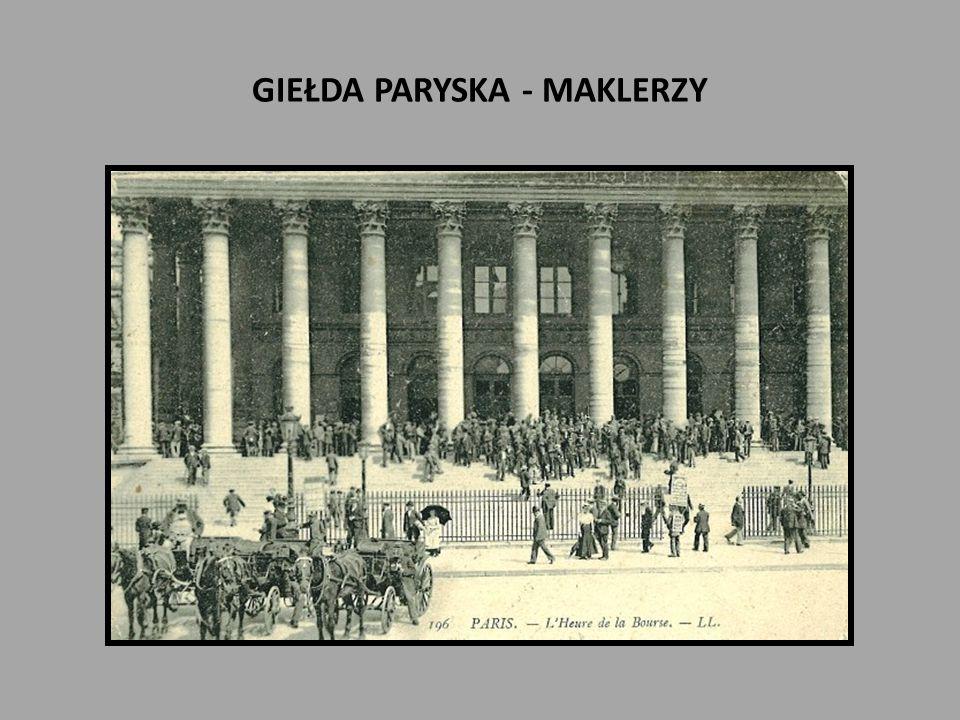 GIEŁDA PARYSKA - MAKLERZY