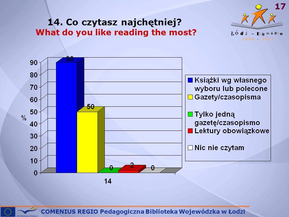 COMENIUS REGIO Pedagogiczna Biblioteka Wojewódzka w Łodzi 17 14.
