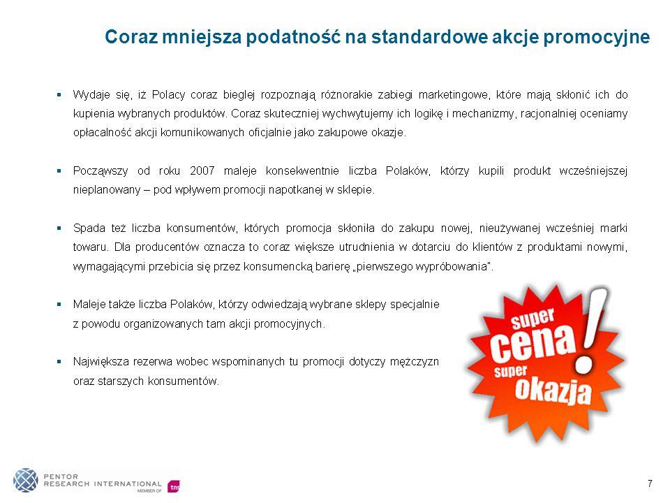 Coraz mniejsza podatność na standardowe akcje promocyjne 7