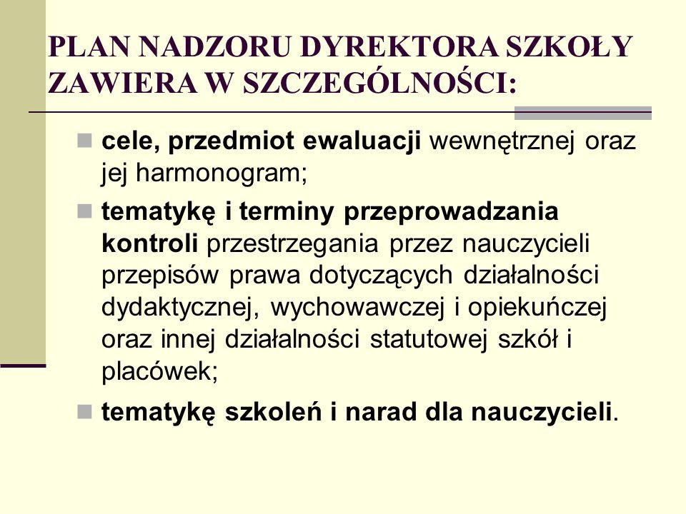 funkcjonowanie w przedszkolach i szkołach Zespołu ds.